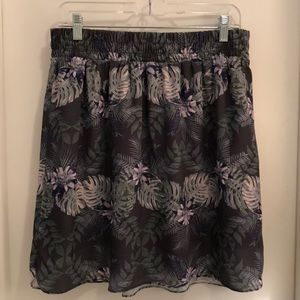 Mossimo Hawaiian Print Skirt Lined 100 Poly